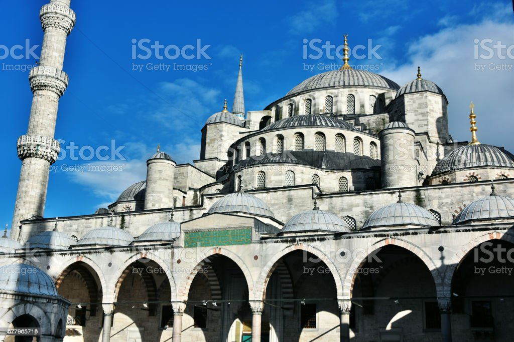 Sultan Ahmed Mosque or Blue Mosque in Istanbul, Turkey royalty-free stock photo