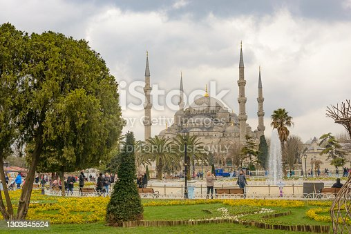 Sultan Ahmed Mosque or Blue Mosque in Istanbul Turkey