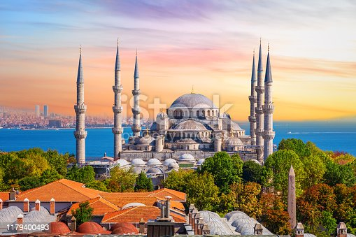 Sultan Ahmed Mosque or the Blue Mosque in Istanbul, one of the most famous Turkish sights.