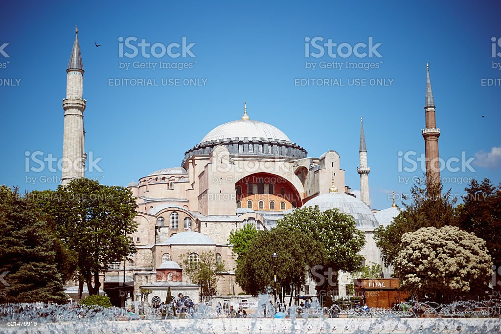 Sultan Ahmed Mosque stock photo