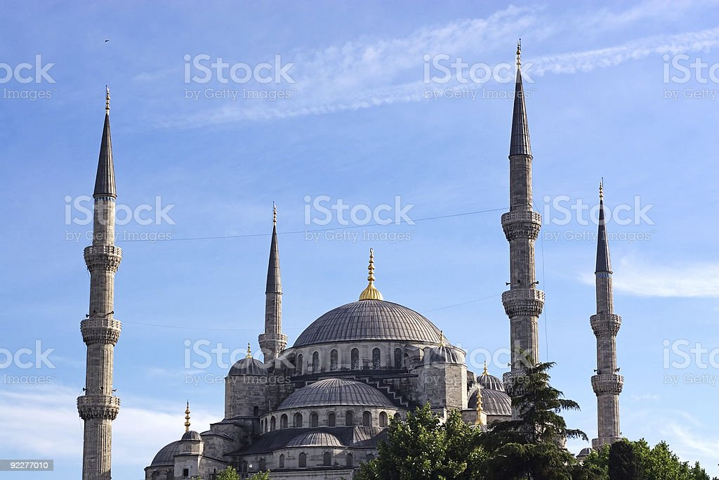 Sultan Ahmet Cami against blue sky royalty-free stock photo