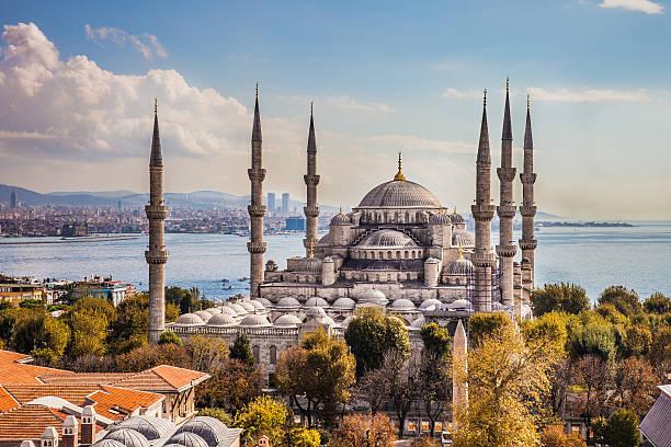 султан ахмет camii-голубая мечеть в стамбуле - стамбул стоковые фото и изображения