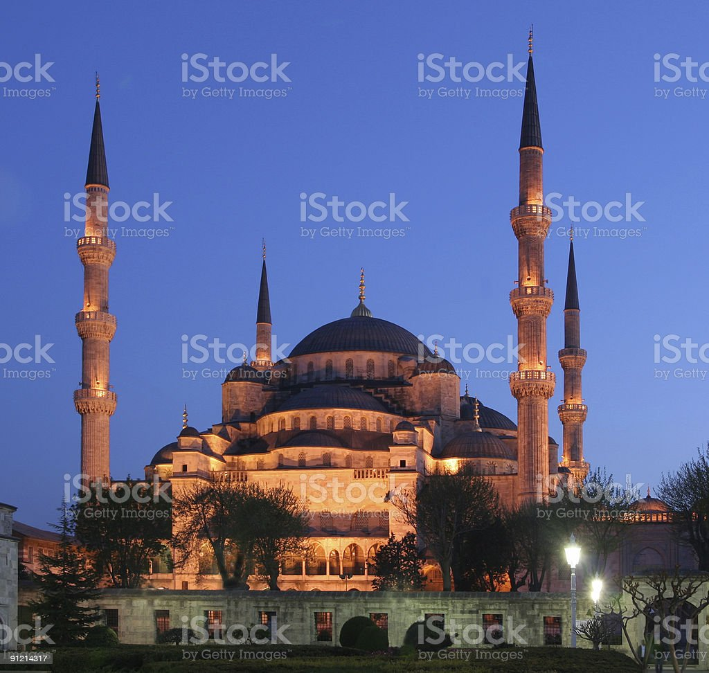 Sultan Ahmet mosque - 3 royalty-free stock photo