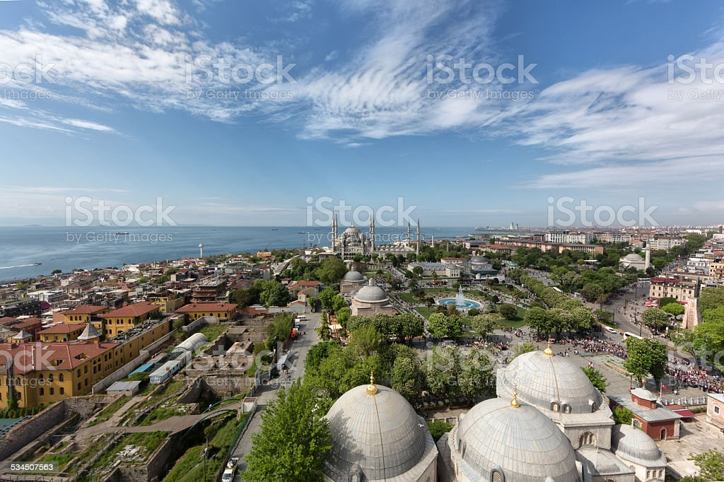 Sultan ahmet mosque istanbul stock photo