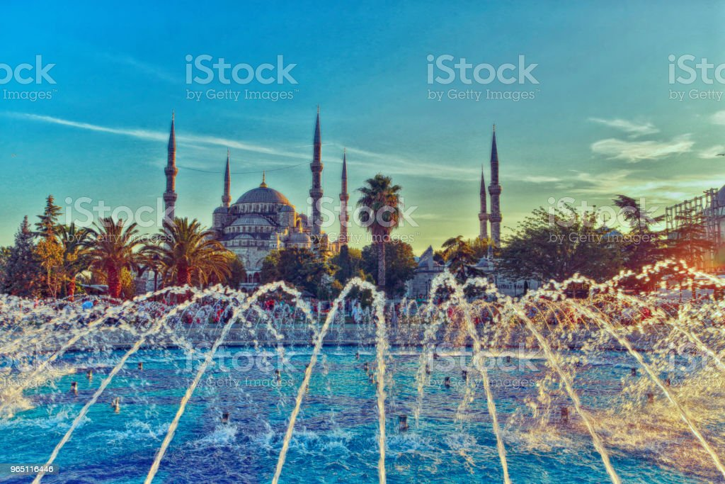 Sultan Ahmet Mosque royalty-free stock photo