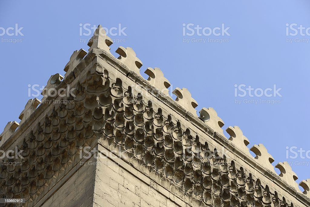 Sultan Hassan mosque details stock photo