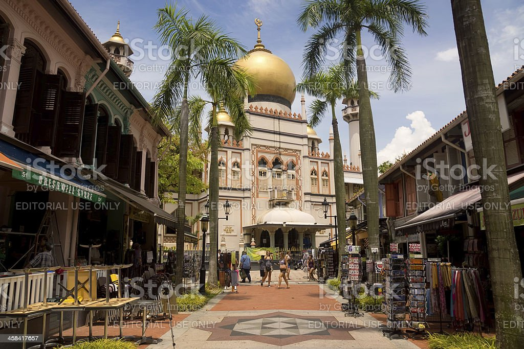 Sultan Mosque royalty-free stock photo