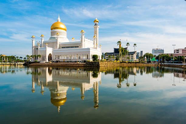 Sultán mezquita de Omar alí Saifuddin, Brunei - foto de stock