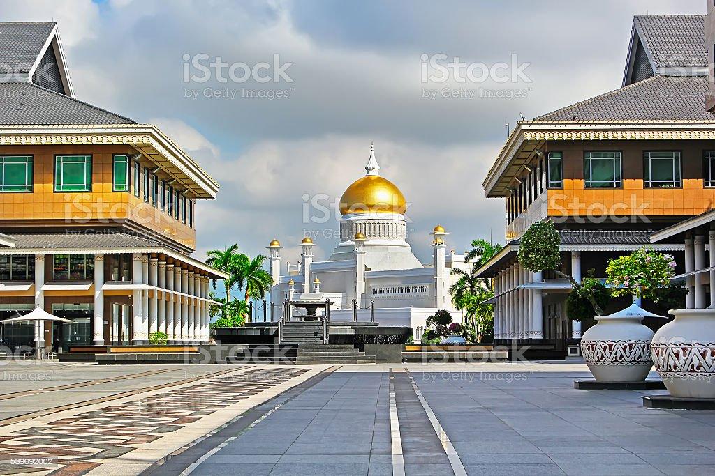 Sultan Omar Ali Saifuddin Mosque in Bandar Seri Begawan Brunei stock photo