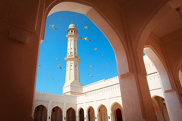 Sultan Qaboos Mosque in Salalah Sultan Qaboos Mosque in Salalah, Oman minaret stock pictures, royalty-free photos & images