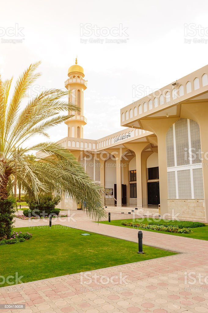 Sultan Qaboos Mosque in Sohar stock photo