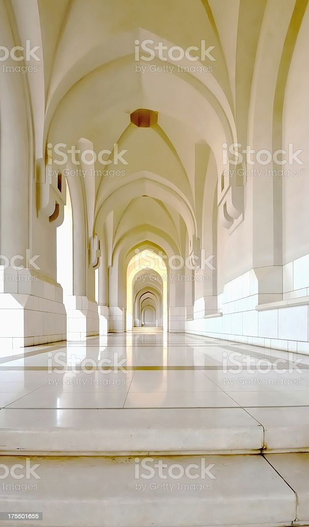 Sultan Qaboos Palace Walkway royalty-free stock photo