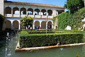Court of the Sultana (patio de la Sultana) within the Generalife at the Palace of Alhambra, Granada, Granada Province, Andalusia, Spain, Western Europe.