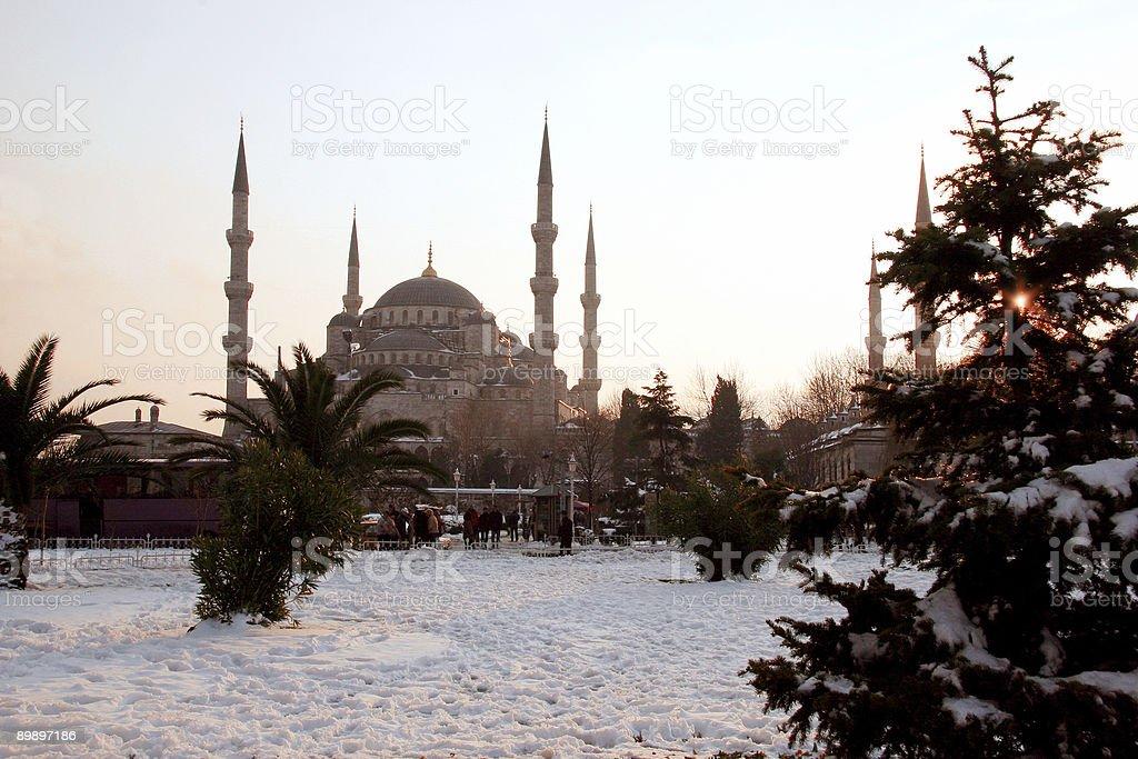 Mezquita de Sultanahmet foto de stock libre de derechos