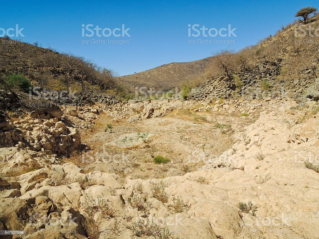 Sultanate of Oman, Dhofar, near Salalah, wadi Darbat stock photo