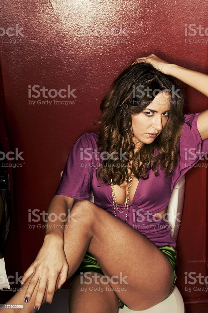 sultry bathroom royalty-free stock photo