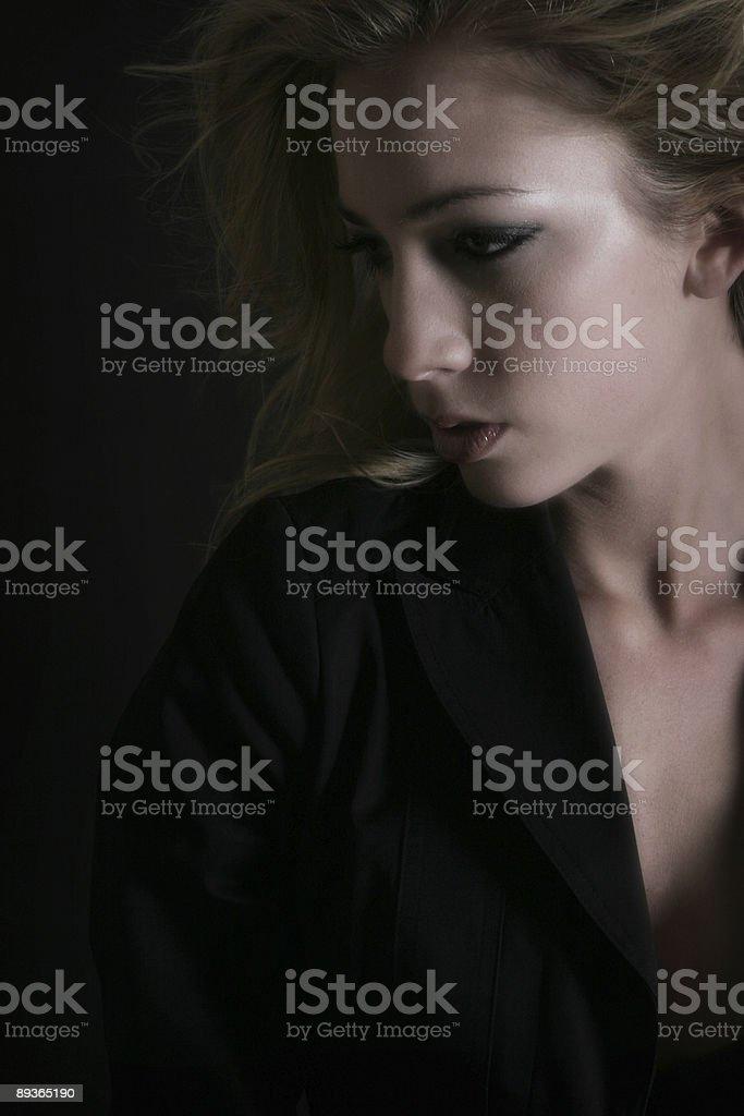 Sultry female royaltyfri bildbanksbilder