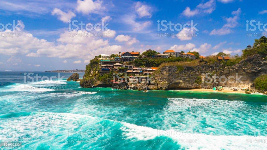 Suluban surf beach. Bali, Indonesia. stock photo