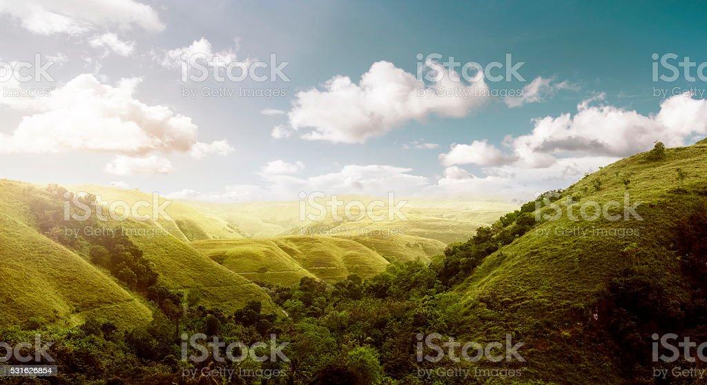 Sumba Island Hills Landscape stock photo