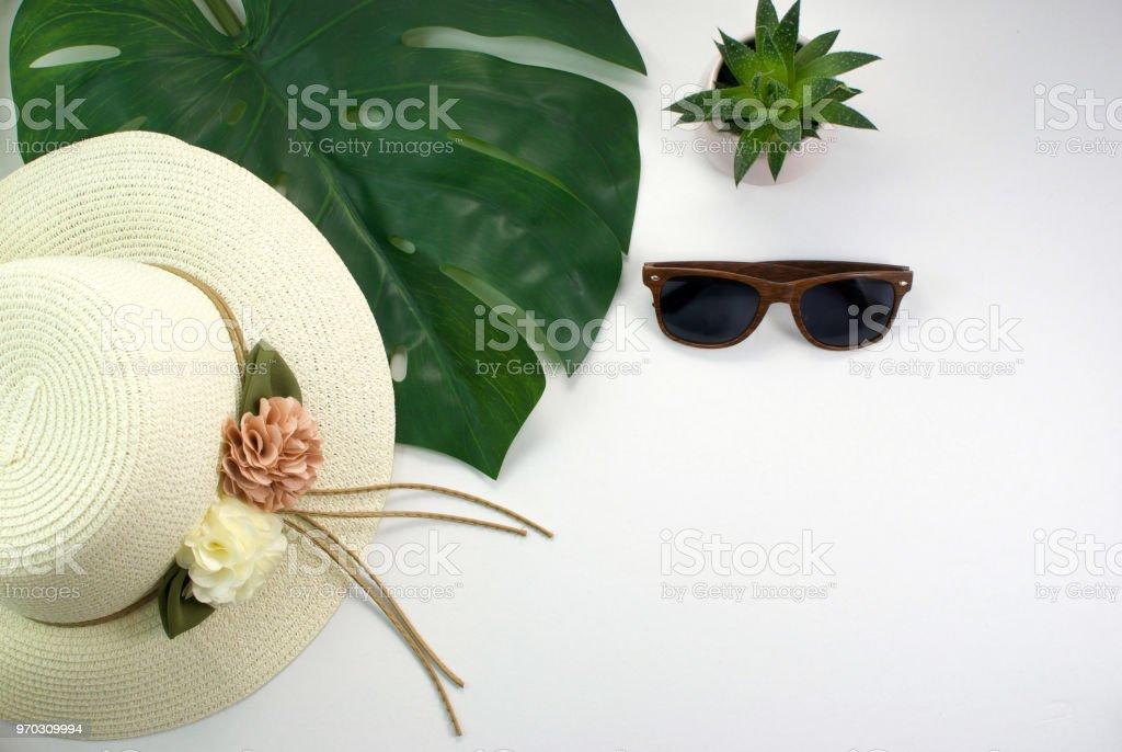 Fotografía de Maqueta De Vacaciones Verano Con Sombrero Para El Sol ...