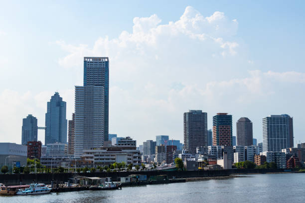 Sumida River district to see from Toyosu canal7 stock photo