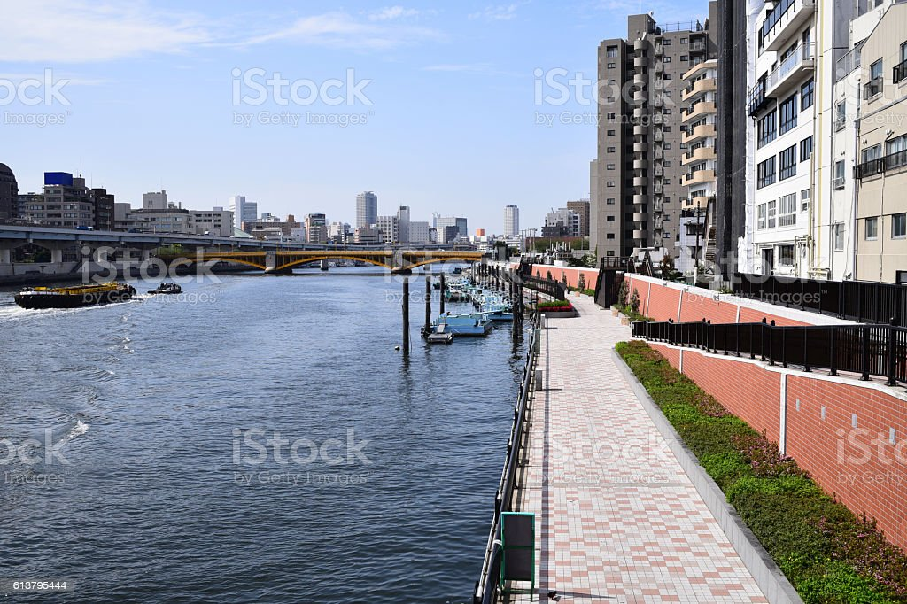Sumida River stock photo