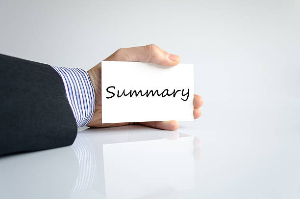 Summary concept Business man hand writing Summary abridgment stock pictures, royalty-free photos & images