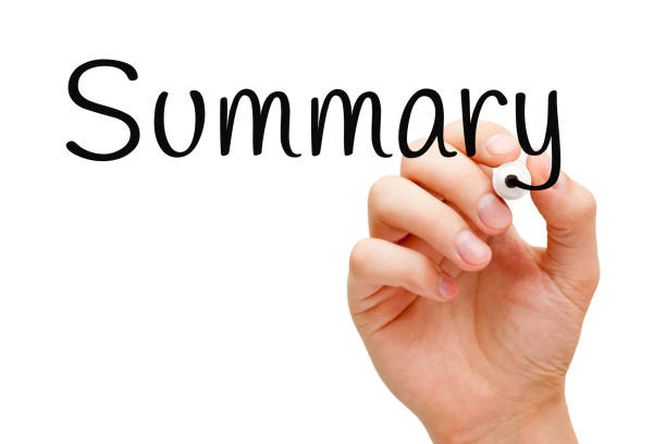 Summary Handwritten With Black Marker Hand writing the word Summary with black marker on transparent wipe board isolated on white. abridgment stock pictures, royalty-free photos & images