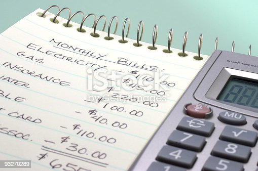 Adding up the monthly bills