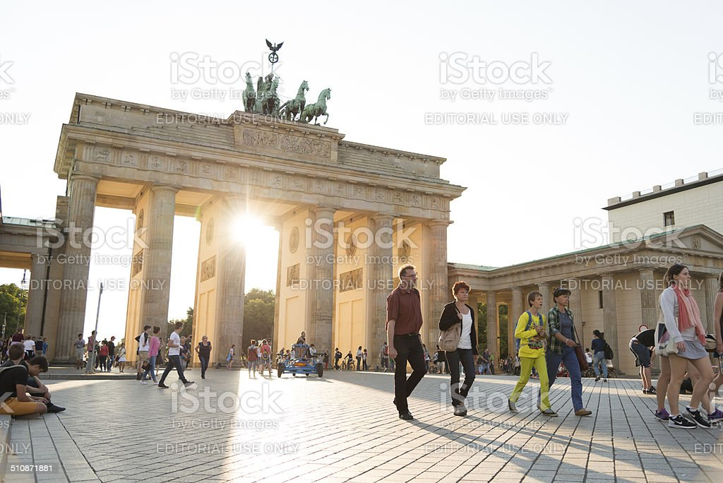 summer afternoon at Brandenburger Tor Berlin stock photo