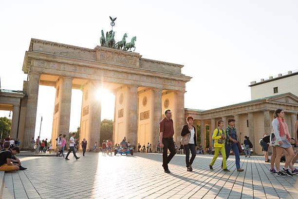 summer afternoon at Brandenburger Tor Berlin stock photo