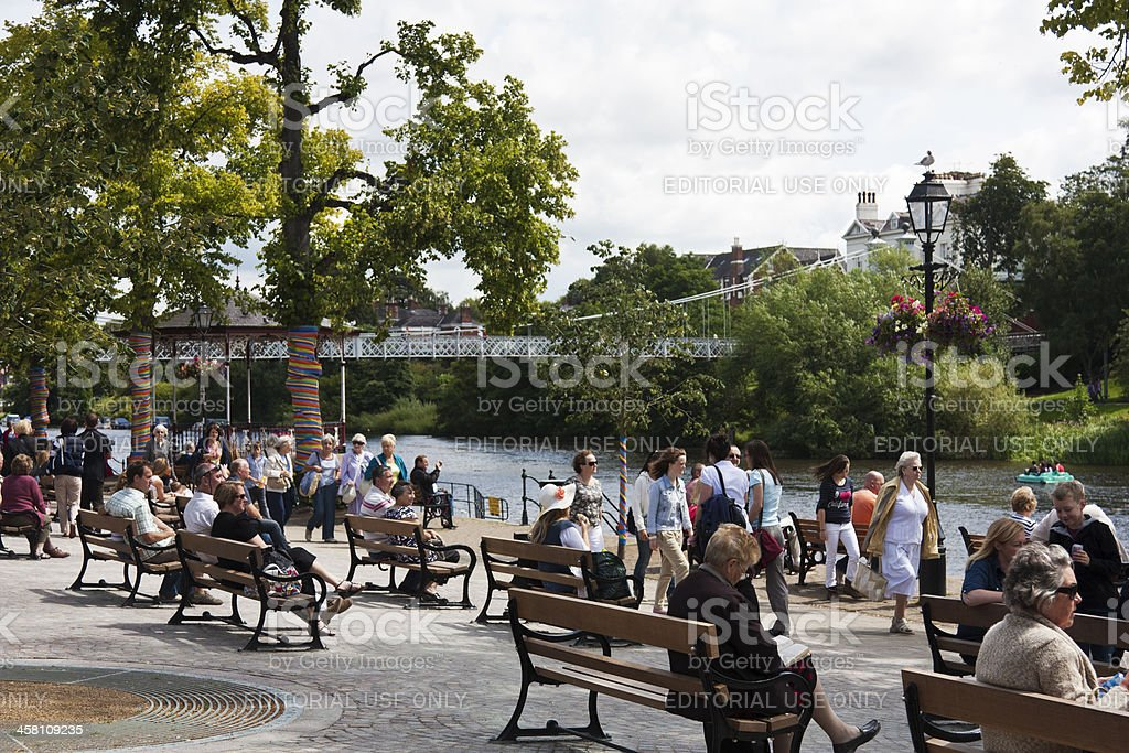 Summer afternoon at Chester stock photo