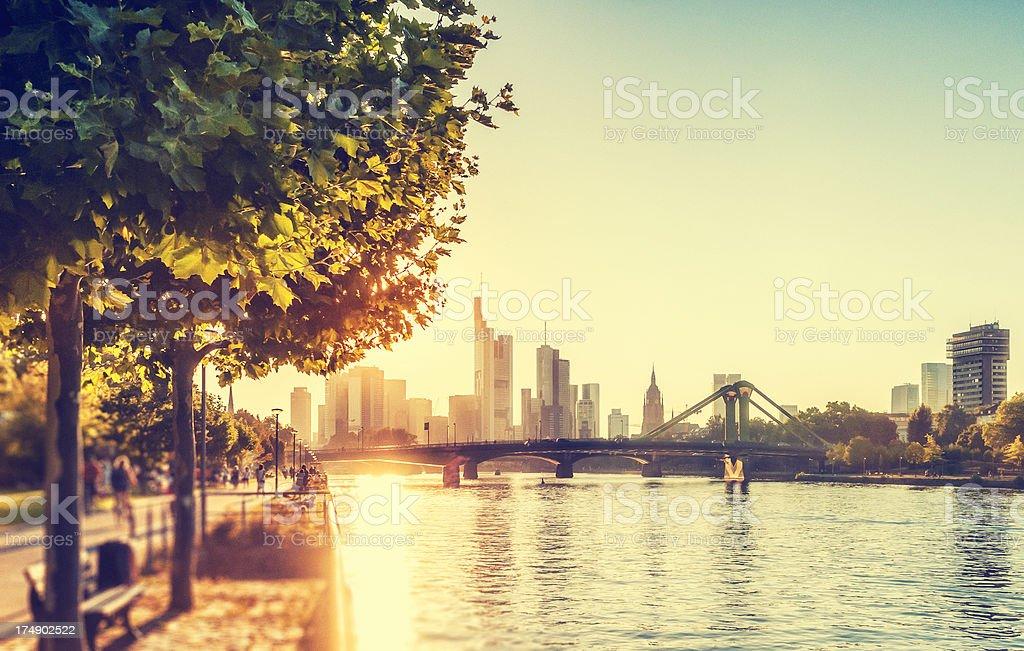 Summer afternoon in Frankfurt am Main stock photo