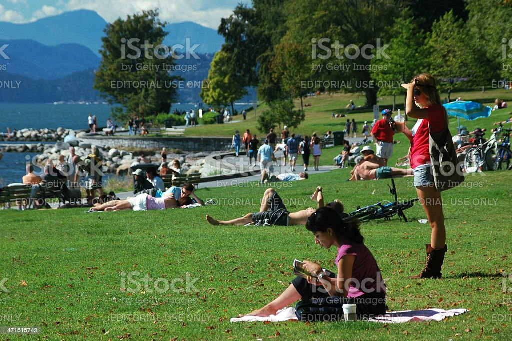 Summer afternoon in Vancouver stock photo