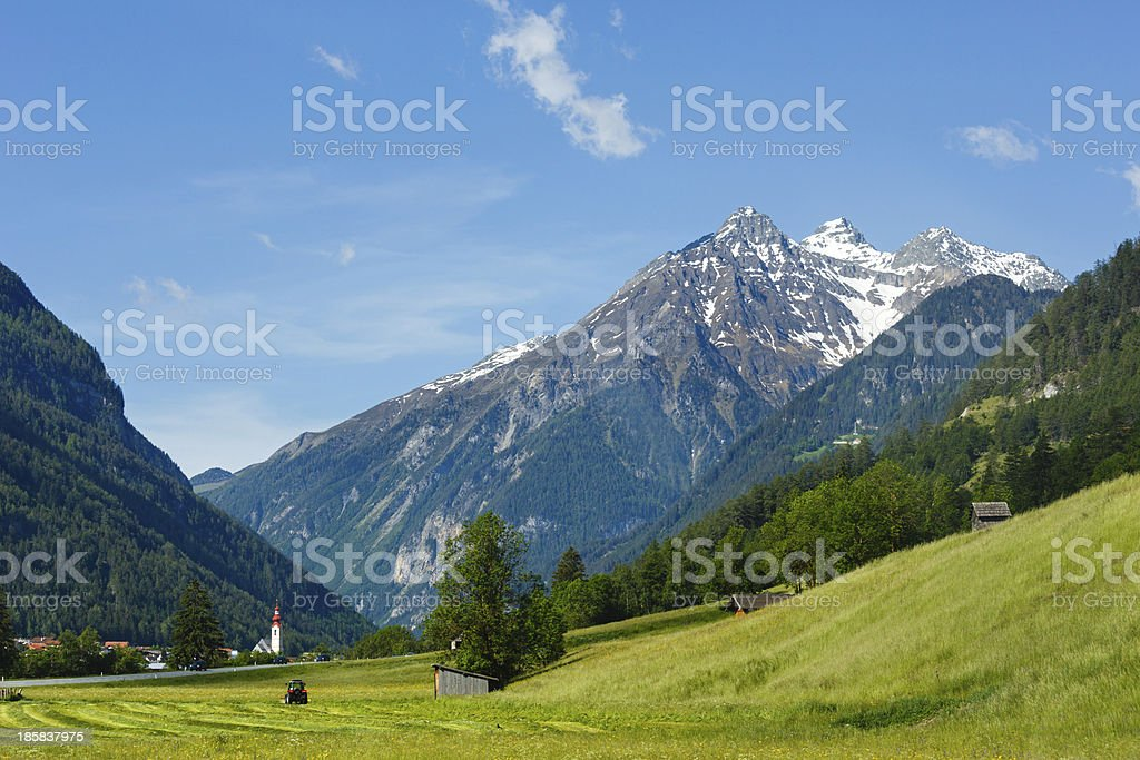 Summer Alpine country view royalty-free stock photo