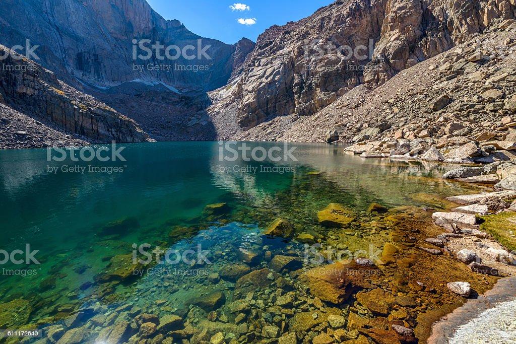 Summer Alpine Lake stock photo