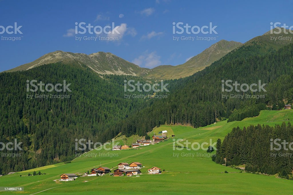 Summer Alpine Valley (Val Casies - Gsieser Al) royalty-free stock photo