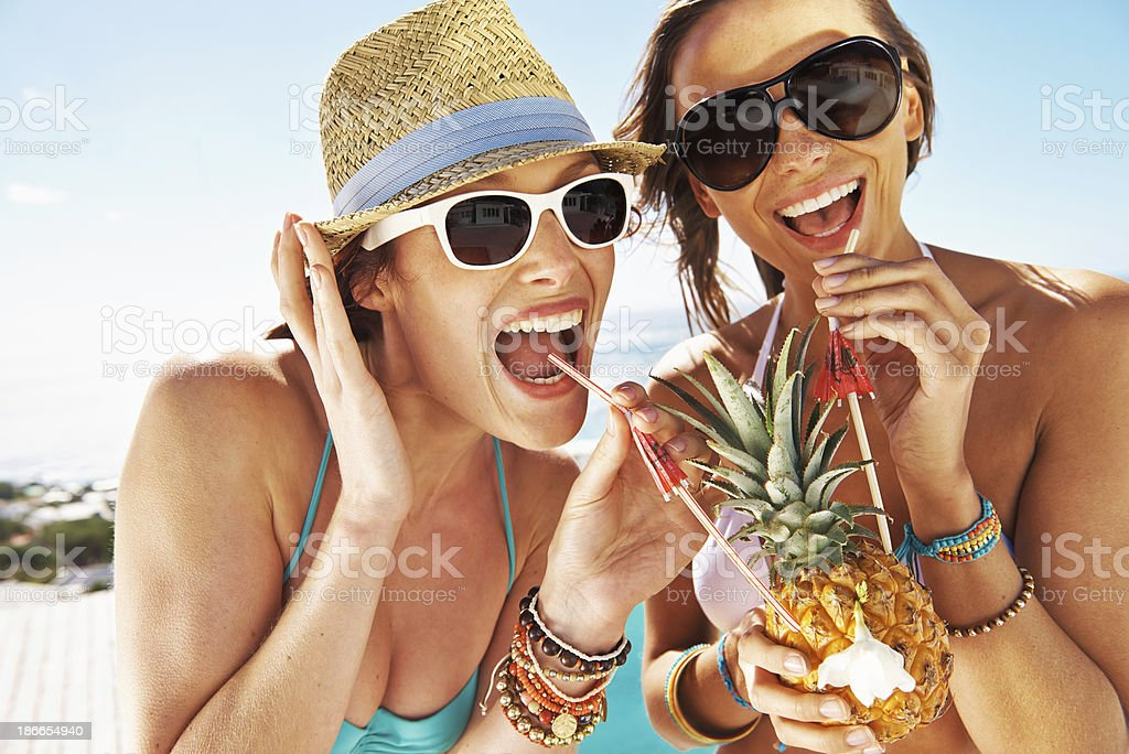 Summer and cocktails, a perfect combination stock photo