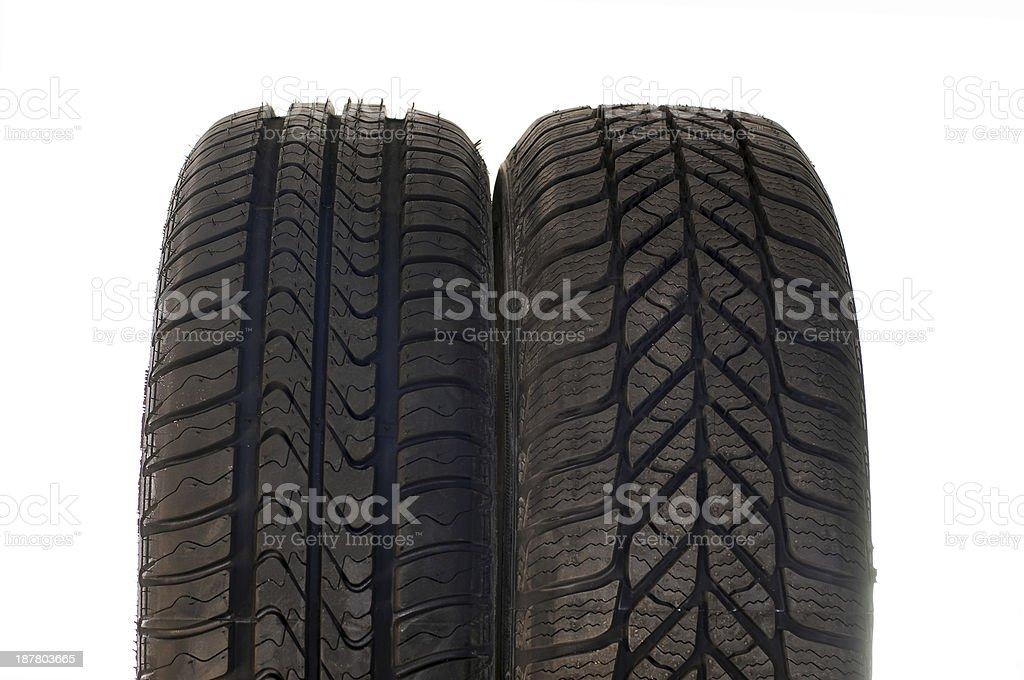 Sommer- und winter-Auto Reifen – Foto