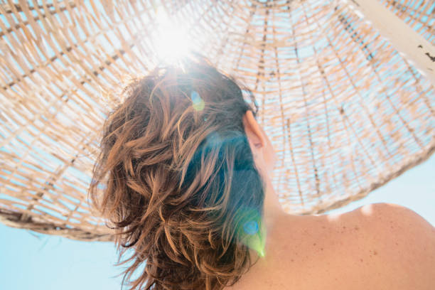 Summer at beach. stock photo