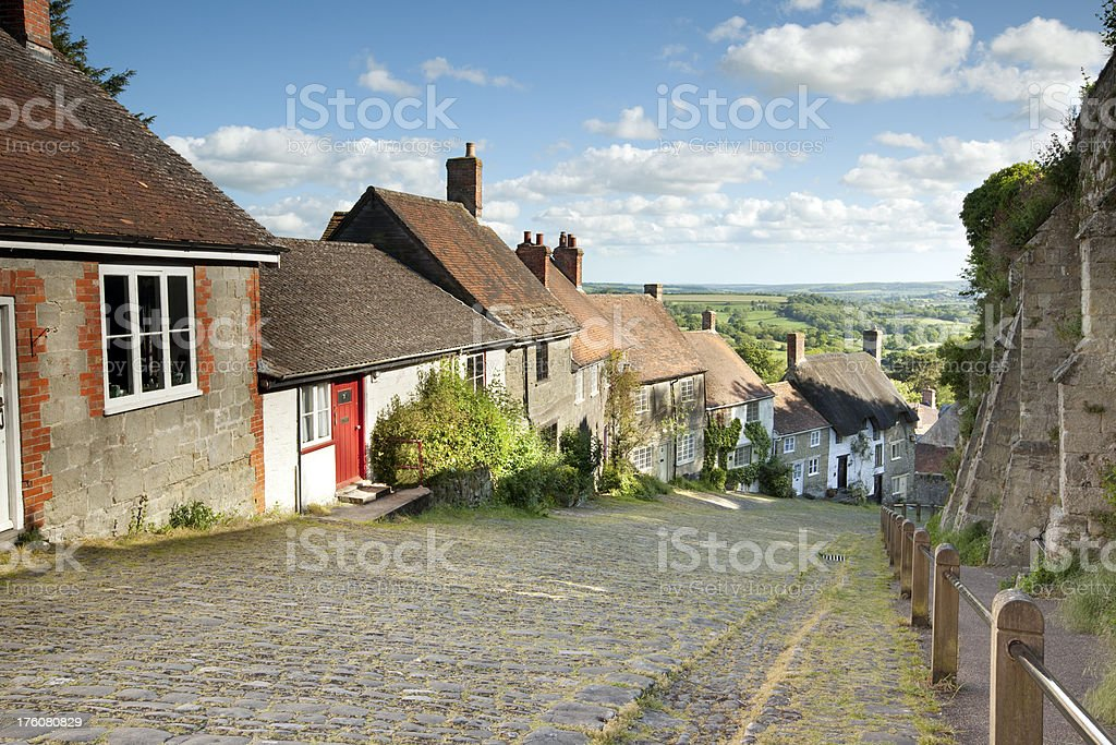 Summer at gold hill stock photo