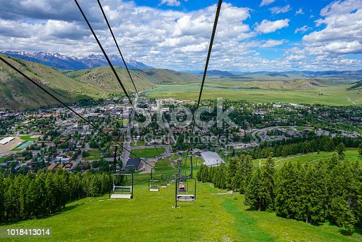 summer scenery at Jackson hole (a very small village)