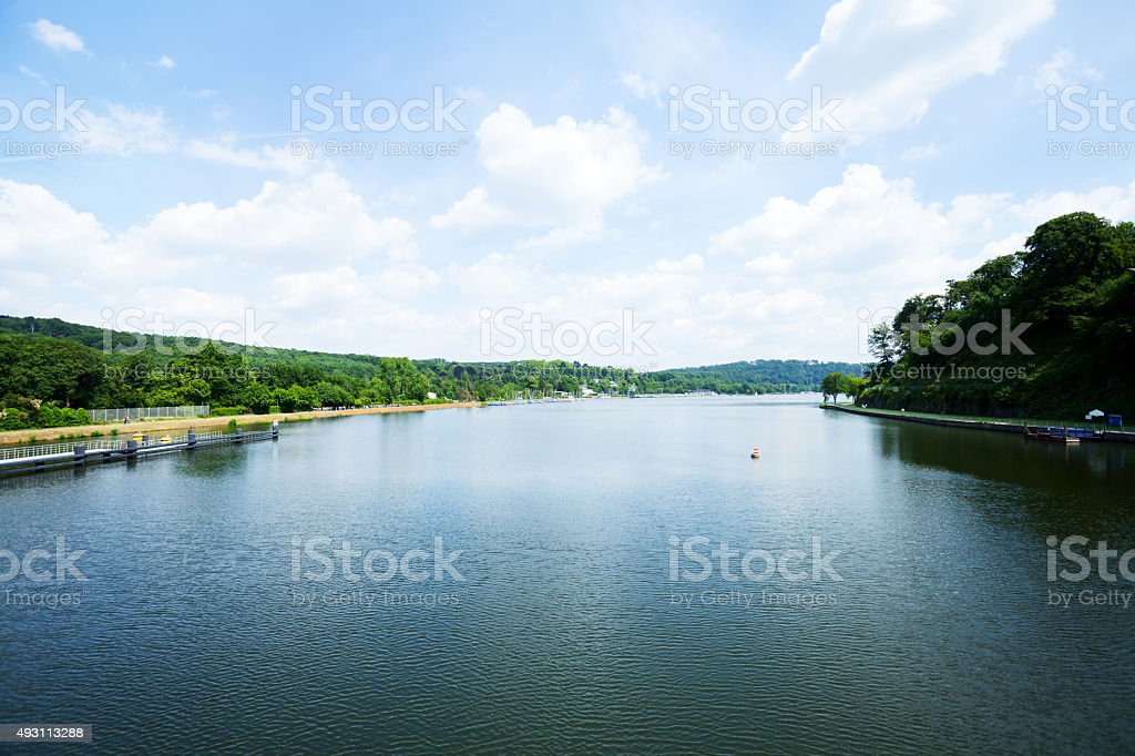 Sommer im lake Baldeneysee – Foto