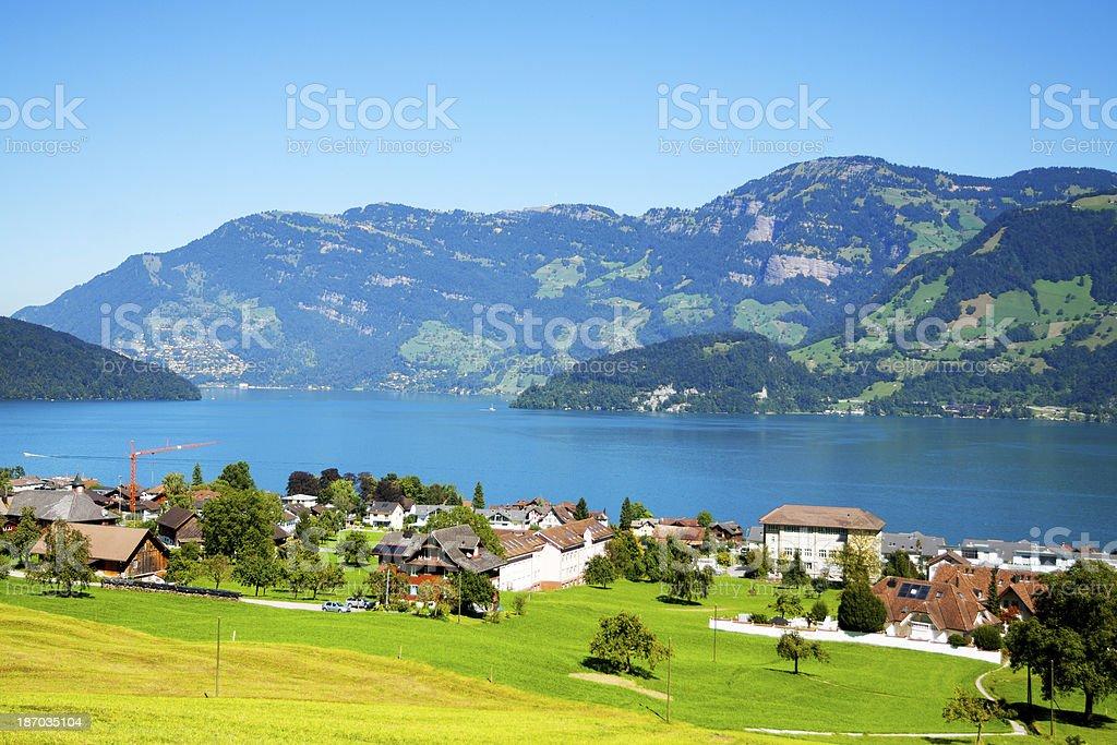 Summer at Lake Lucerne royalty-free stock photo
