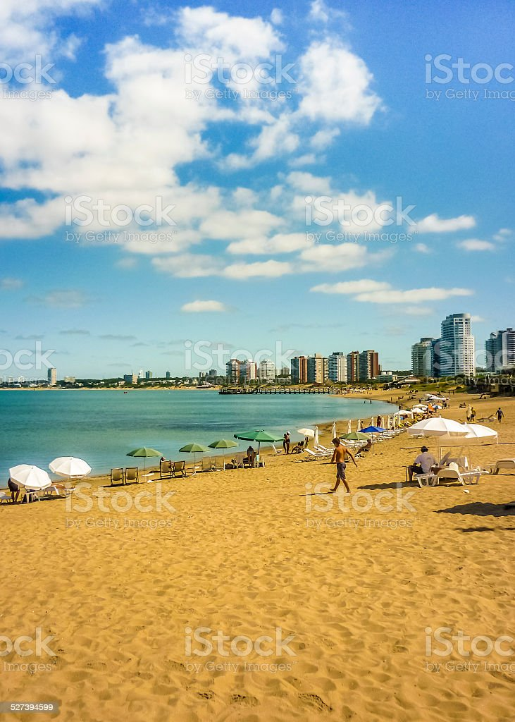 Summer at the Beach in Punta del Este stock photo