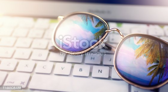 istock summer background concept; summer vacation dream 1155508488