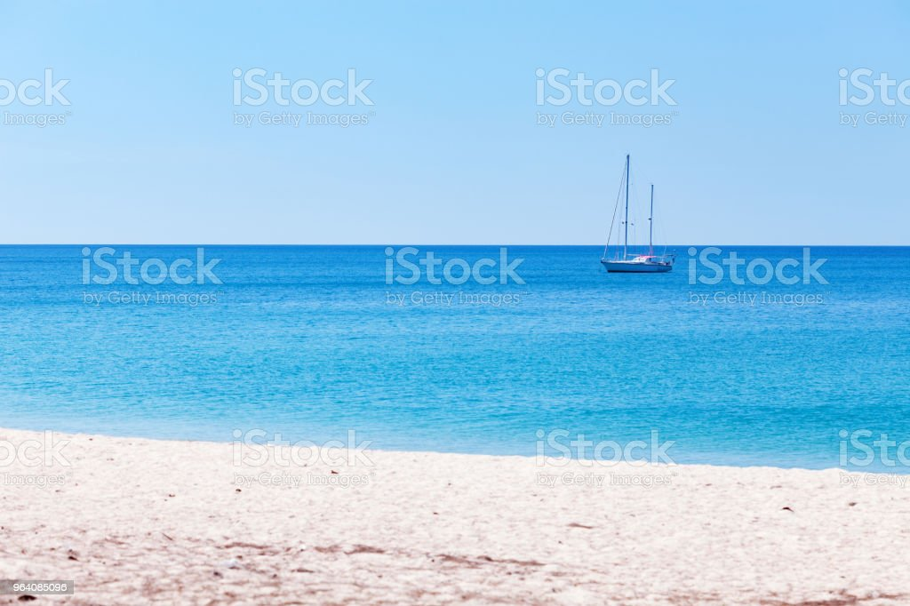 summer background of tropical sea and whith sand in phuket thailand. - Royalty-free Andaman Sea Stock Photo
