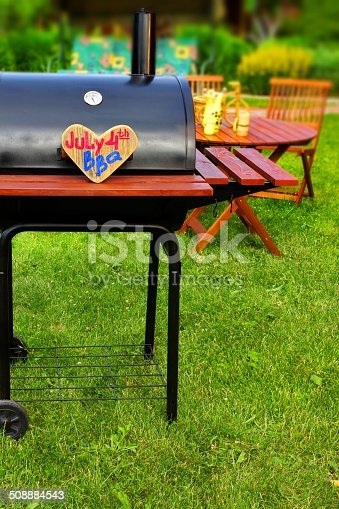 istock BBQ Summer Backyard Party Scene 508884543