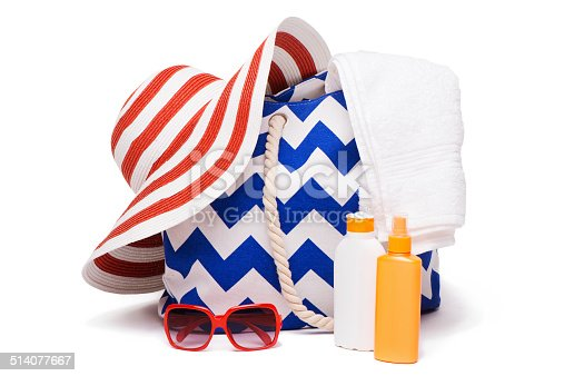 istock Summer bag, hat and sun-glasses 514077667
