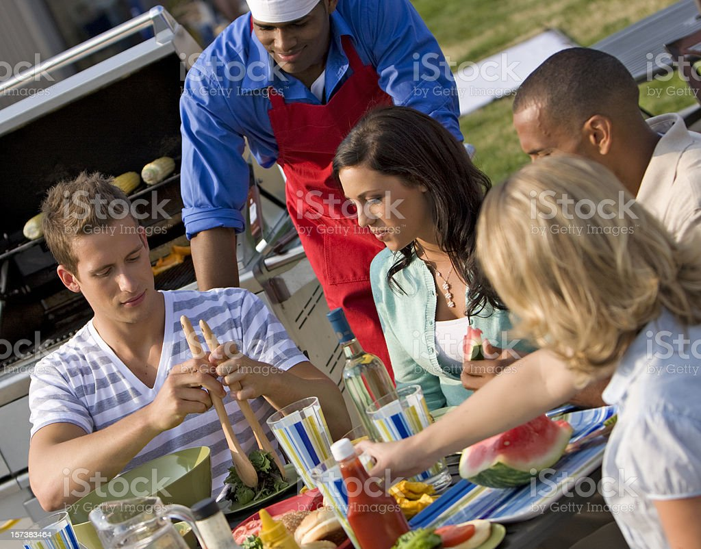 Summer Barbecue with Friends stock photo